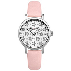 Iris & Edie - Ladies pink floral dial watch