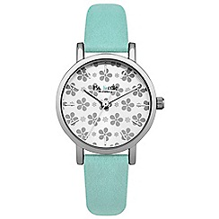 Iris & Edie - Ladies turquoise floral dial watch
