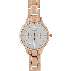 Principles by Ben de Lisi - Ladies rose gold link watch with sandblast finish