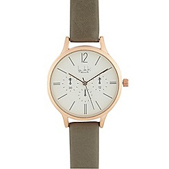 Principles by Ben de Lisi - Ladies grey mock multi dial analogue watch