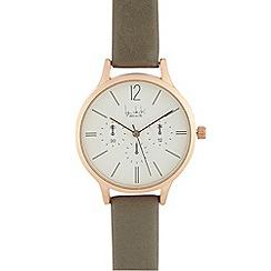 Principles by Ben de Lisi - Ladies grey mock multi dial analogue watch