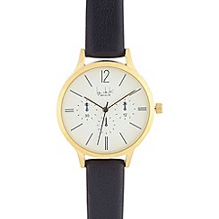 Principles by Ben de Lisi - Ladies dark blue mock multi dial analogue watch