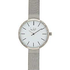 Principles - Ladies silver plated mesh strap analogue watch