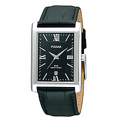 Pulsar - Men's black square dial watch
