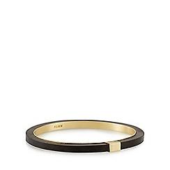 Pilgrim - Gold plated black wooden bracelet