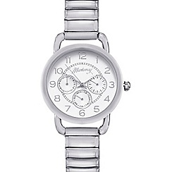 Mantaray - Ladies silver plated mock multi dial watch