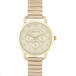 Mantaray - Ladies gold plated mock multi dial watch