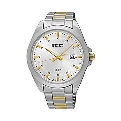 Seiko - Gents Stainless Steel/Two Tone 3-Hand Bracelet Watch sur211p1