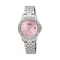 Seiko - Ladies Stainless Steel 3-Hand Bracelet Watch sur739p1