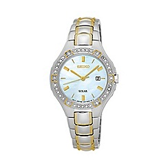 Seiko - Ladies Stainless Steel/Two Tone 3-Hand Bracelet Watch sut282p9