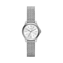 DKNY - Ladies stainless steel 'Parsons' mesh bracelet watch