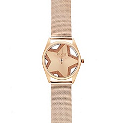 Floozie by Frost French - Ladies rose gold star watch