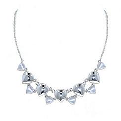 Finesse - Rhodium teardrop necklace