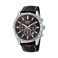 Lorus - Men's brown chronograph strap watch rt307dx9