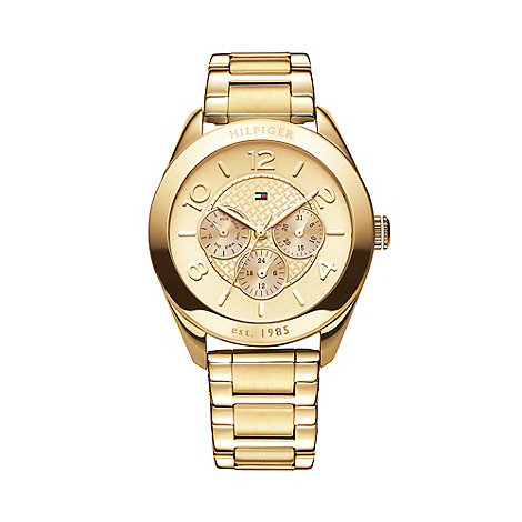 Tommy Hilfiger - Ladies gold chronograph dial bracelet watch