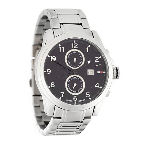 Tommy Hilfiger - Men+s silver chronograph dial bracelet watch
