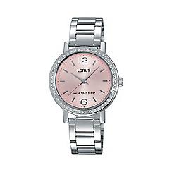 Lorus - Women's soft pink dial SS bracelet watch rg263kx9