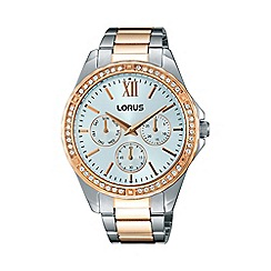 Lorus - Women's two tone multi-dial bracelet watch rp644cx9