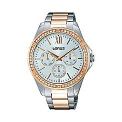 Lorus - Women's two tone multi-dial bracelet watch