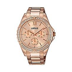Lorus - Women's rose gold multi-dial bracelet watch rp686cx9