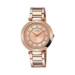 Lorus - Women's soft pink dial RGP bracelet watch rrw04fx9