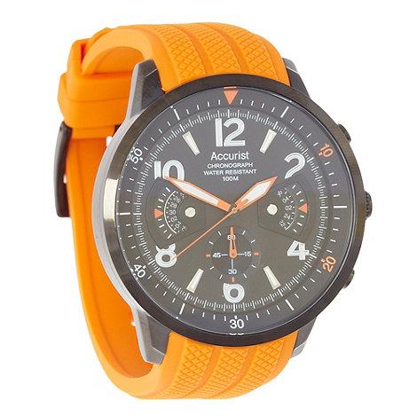 Accurist - Men+s black chronograph dial watch