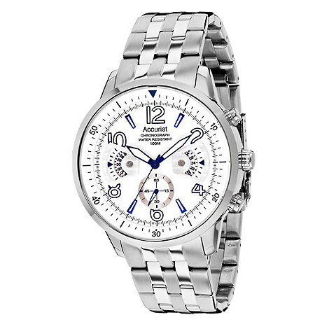 Accurist - Men+s stainless steel chronograph watch