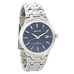 Accurist - Men's silver striped bracelet watch