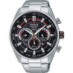 Pulsar - Men's SS solar chronograph bracelet watch