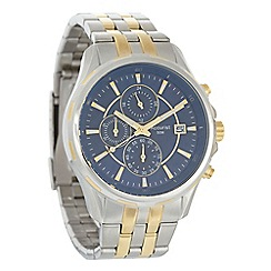 Accurist - Men's silver chronograph dial striped bracelet watch