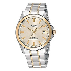 Pulsar - Gents two tone bracelet watch pxh096x1