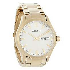 Accurist - Men's gold large bracelet watch
