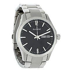 Accurist - Men's silver oversized dial bracelet watch