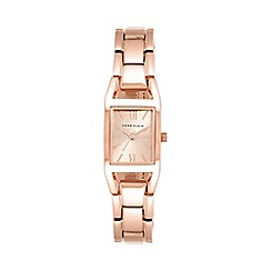 Anne Klein - Womens quartz watch with rose gold dial analogue display and rose gold alloy bracelet 10/n6418rgrg