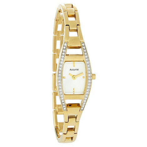 Accurist - Ladies stone set gold tone watch