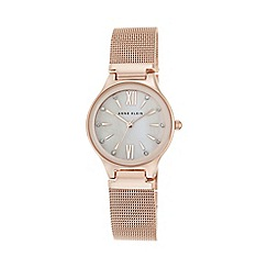 Anne Klein - Womens watch with a pink Mother of Pearl dial ak/n2418bmrg