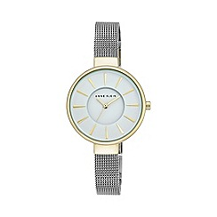 Anne Klein - Womens silver tone mesh watch with a white dial ak/n2443wttt