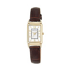 Anne Klein - Womens watch with a brown calf skin leather strap ak/n2394wtbn