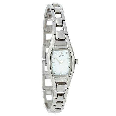 Accurist - Ladies silver narrow bracelet watch