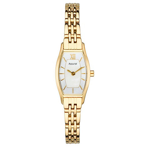 Accurist - Ladies gold narrow bracelet watch
