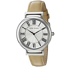 Anne Klein - Womens quartz watch with a classic beige leather strap ak/n2137svtn
