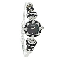 Accurist - Ladies black charm beaded watch