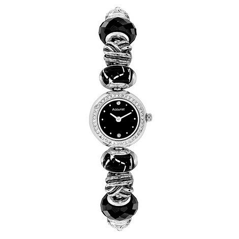 Accurist - Ladies black charm bracelet