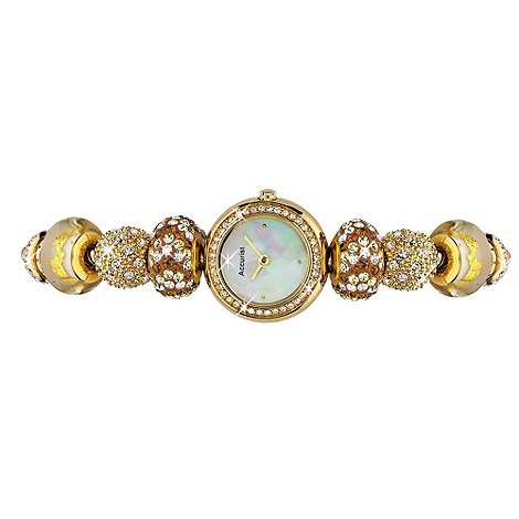 Accurist - Ladies gold charm bracelet watch