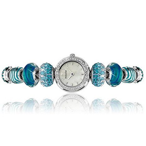 Accurist - Ladies blue charm bracelet watch