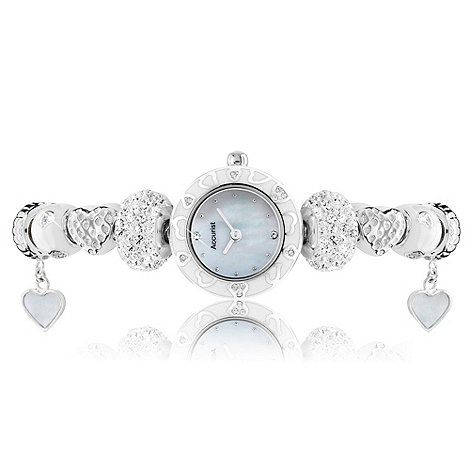 Accurist - Ladies white and silver beaded watch