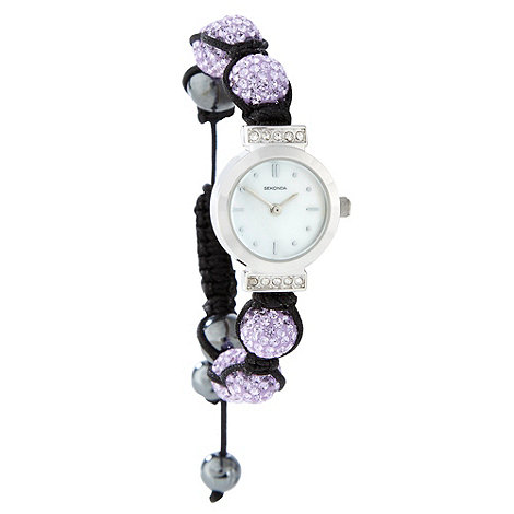 Sekonda - Ladies purple +crystalla+ wrist watch