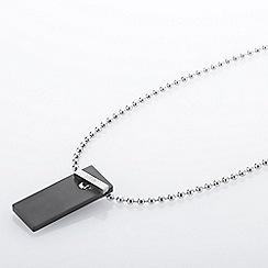 STORM London - Black KEMPA rectangular tag pendant