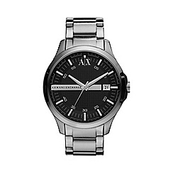 Armani Exchange - Men's silver stripe watch ax2103