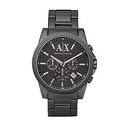 Armani Exchange - Men's gunmetal chronograph watch